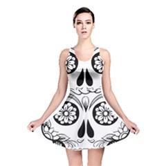 Sugar Skull Reversible Skater Dress
