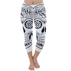 Sugar Skull Capri Winter Leggings