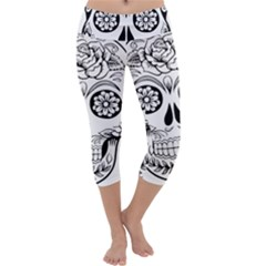 Sugar Skull Capri Yoga Leggings