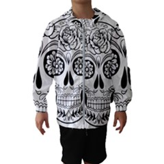 Sugar Skull Hooded Wind Breaker (kids)