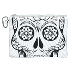 Sugar Skull Canvas Cosmetic Bag (xl)