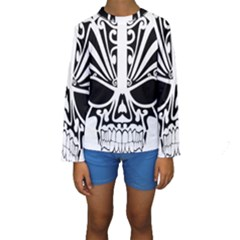 Tribal Sugar Skull Kids  Long Sleeve Swimwear