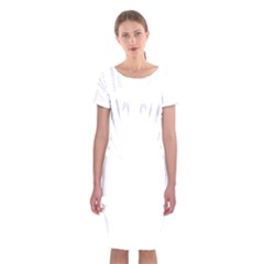Tribal Sugar Skull Classic Short Sleeve Midi Dress