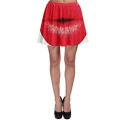 Oooooh Lips Skater Skirt