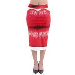 Oooooh Lips Midi Pencil Skirt
