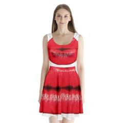 Oooooh Lips Split Back Mini Dress