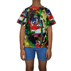Catalina Island Not So Far 5 Kids  Short Sleeve Swimwear