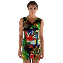 Catalina Island Not So Far 5 Wrap Front Bodycon Dress