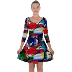 Catalina Island Not So Far 5 Quarter Sleeve Skater Dress