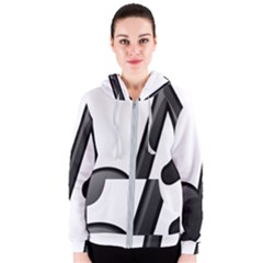 Music Note  Women s Zipper Hoodie