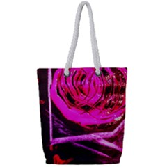 Calligraphy 2 Full Print Rope Handle Tote (small)