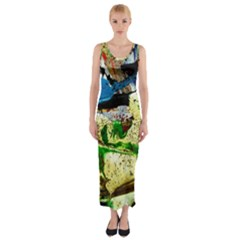 Catalina Island Not So Far 4 Fitted Maxi Dress