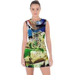 Catalina Island Not So Far 4 Lace Up Front Bodycon Dress