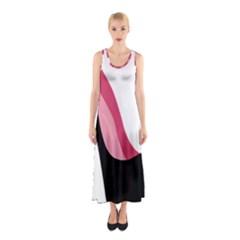 Black Stiletto Heels Sleeveless Maxi Dress