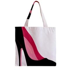 Black Stiletto Heels Zipper Grocery Tote Bag