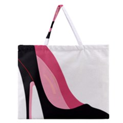 Black Stiletto Heels Zipper Large Tote Bag by sherylchapmanphotography