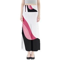 Black Stiletto Heels Full Length Maxi Skirt