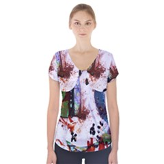 Doves Match 1 Short Sleeve Front Detail Top