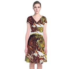 Doves Matchmaking 3 Short Sleeve Front Wrap Dress