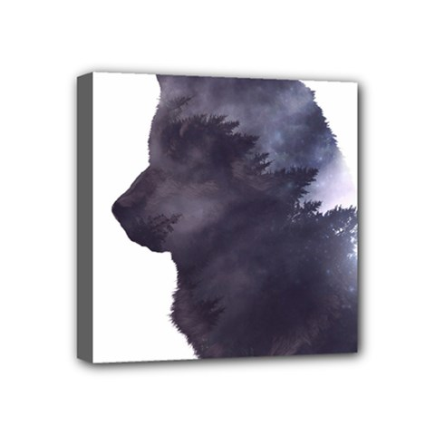 Black Wolf  Mini Canvas 4  X 4