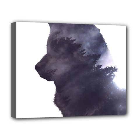 Black Wolf  Deluxe Canvas 20  X 16
