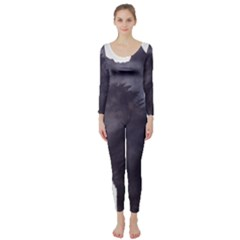 Black Wolf  Long Sleeve Catsuit