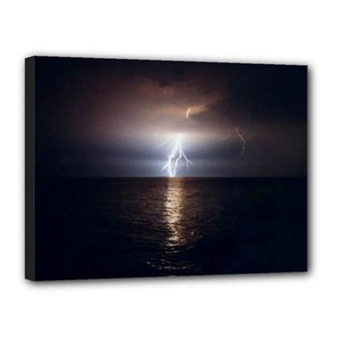 Lightning Canvas 16  X 12