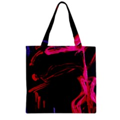 Calligraphy 4 Zipper Grocery Tote Bag by bestdesignintheworld