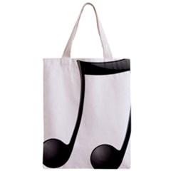 Music Note Zipper Classic Tote Bag
