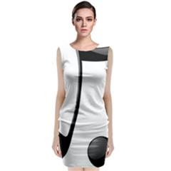 Music Note Classic Sleeveless Midi Dress