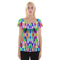 Artwork By Patrick Colorful 35 Cap Sleeve Tops