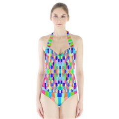 Artwork By Patrick Colorful 35 Halter Swimsuit