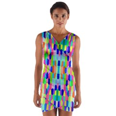 Artwork By Patrick Colorful 35 Wrap Front Bodycon Dress