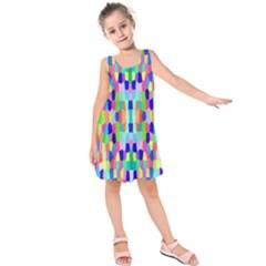 Artwork By Patrick Colorful 35 Kids  Sleeveless Dress