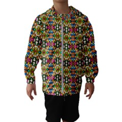 Artwork By Patrick Colorful 36 Hooded Wind Breaker (kids)