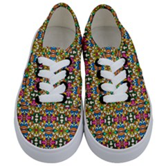 Artwork By Patrick Colorful 36 Kids  Classic Low Top Sneakers