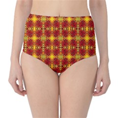 Artwork By Patrick Colorful 37 Classic High Waist Bikini Bottoms