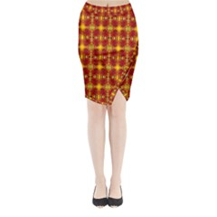 Artwork By Patrick Colorful 37 Midi Wrap Pencil Skirt