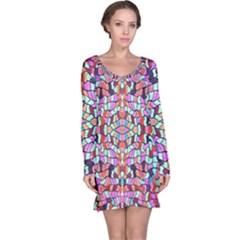 Artwork By Patrick Colorful 38 Long Sleeve Nightdress