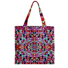 Artwork By Patrick Colorful 38 Zipper Grocery Tote Bag