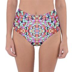 Artwork By Patrick Colorful 38 Reversible High Waist Bikini Bottoms