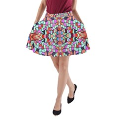 Artwork By Patrick Colorful 38 A Line Pocket Skirt