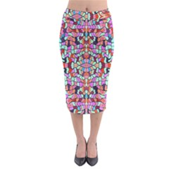 Artwork By Patrick Colorful 38 Midi Pencil Skirt
