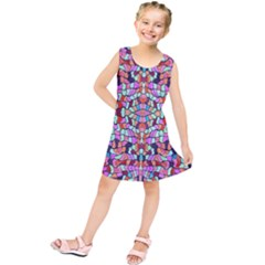 Artwork By Patrick Colorful 38 Kids  Tunic Dress