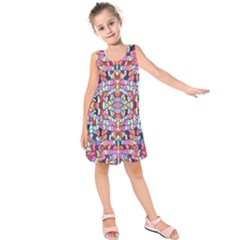 Artwork By Patrick Colorful 38 Kids  Sleeveless Dress
