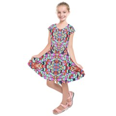Artwork By Patrick Colorful 38 Kids  Short Sleeve Dress