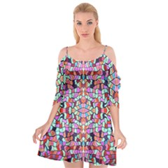 Artwork By Patrick Colorful 38 Cutout Spaghetti Strap Chiffon Dress