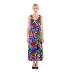 Artwork By Patrick Colorful 39 Sleeveless Maxi Dress