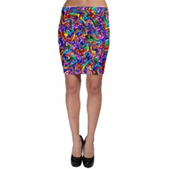 Artwork By Patrick Colorful 39 Bodycon Skirt