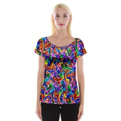 Artwork By Patrick Colorful 39 Cap Sleeve Tops